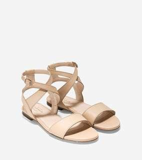 Original/New Cole Haan Fenley Sandals Nude Leather Size 7.5