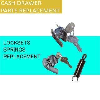 🚚 CashDrawer Key Lockset Replacement / Spring Repair