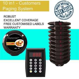 🚚 Brand New 10 in 1 Customer Paging System for Sale