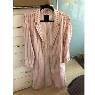 Dynamite Pink Striped Duster Coat