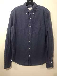 🚚 Gap 藍紫色 牛津長袖襯衫 s