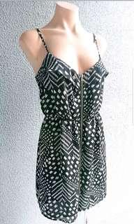 BARDOT Summer Strappy A-Line Dress Zipper Front dress Size 10