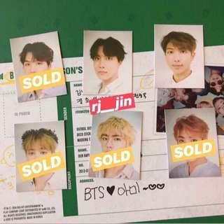 BTS Season's Greetings 2019: ID Photo