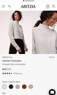 Aritzia Wilfred free Heiden sweater