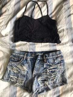Junk food Denim shorts