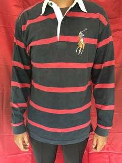 Polo ralph lauren long sleeve stripe red and blue