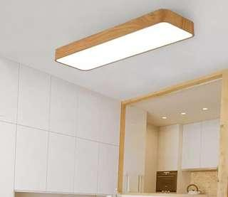 Woody Office Simple rectangular LED ceiling light