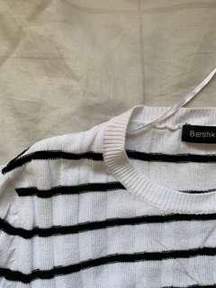 Bershka Striped Knit Top