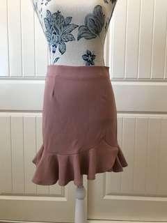 Showpo Nude pink skirt 8