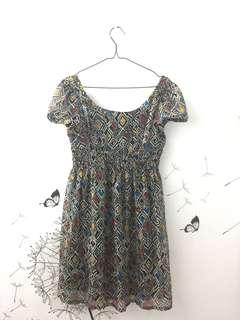Mini dress grey motive