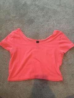 Pink crop top- Factorie