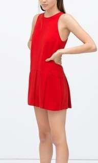 Zara red romper/dress