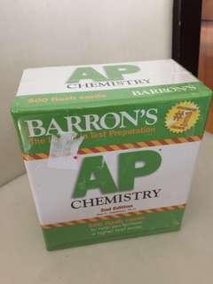 Barron's AP Chemistry 500 flash cards