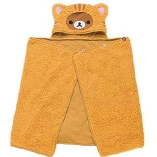 3974Yen 特價七算!!! 保暖披肩連帽 Rilakkuma(鬆馳熊、鬆弛熊、輕鬆小熊、懶懶熊、リラックマ)