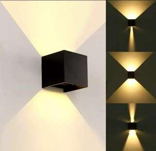 Waterproof outdoor wall lights with effect