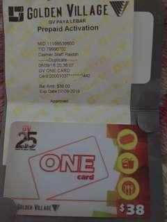 Golden Village GV ONE CARD