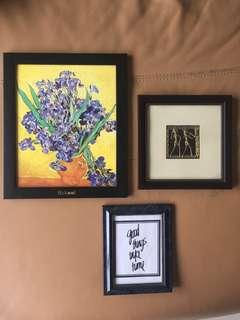 Frames for a gallery wall or spicing up a shelf