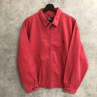 Polo紅色古著外套