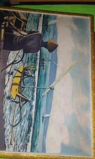 Lukisan si pelaut .120x90