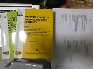 Law books pharmacy students