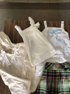 Sleeveless jackets skirts