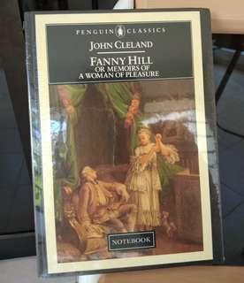 Penguin classics Notebook Fanny Hill memoirs of a woman of pleasure John Cleland book hardcover