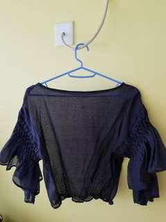 Lily Brown Royal Blue Top