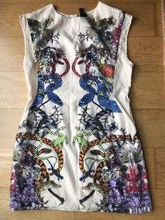 Givenchy Animal printed colourful dress