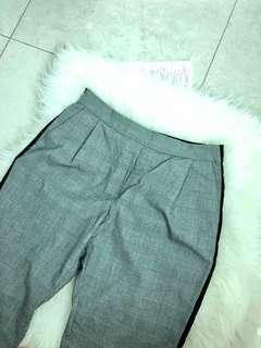 Zara plaid pants with stripe