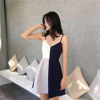 🚚 Fiona Symmetrical Spaghetti Strap Dress