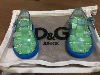 D&G Blue Jelly Shoes