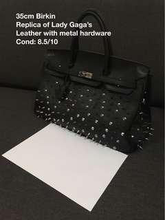 Birkin-ish studded bag