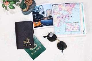 Customized leather passport cover