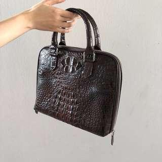 🚚 Italian made Genuine Crocodile Crafted Leather Bag SALE