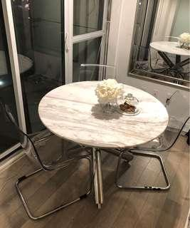 Tobias ikea ghost clear chairs