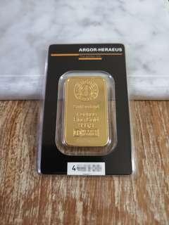 Argor Heraeus 1 oz gold bar