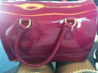 FURLA JELLY BAG 紫色手袋
