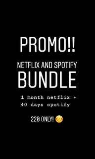 Netflix And Spotify Bundle
