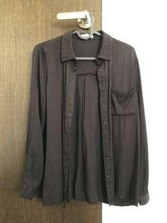 black long sleeves ulzzang
