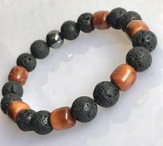 Lava Stone & Kokka Bracelet