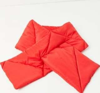 Urban Outfitters Red Puffer Scarf