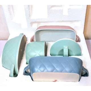 烘培陶瓷餐具全套 (菱格粉色系) / whole set