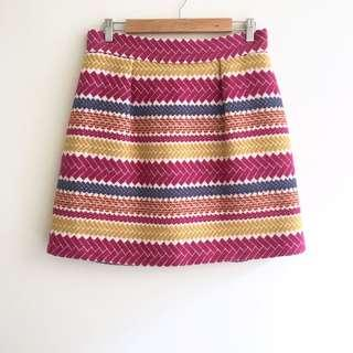 Morgan Carper Woven Cotton Skirt