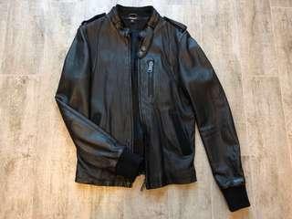 leather jacket biker bomber trucker underground 46 S