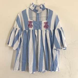🚚 特殊露敷熊熊條紋襯衫