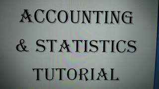 Accounting and Statistics Tutorial