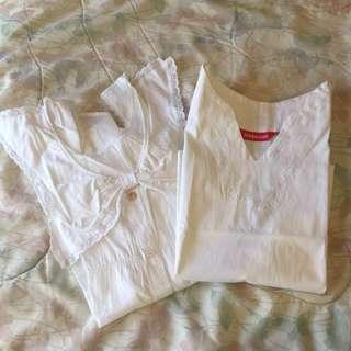 Pretty White Cotton Blouse Bundle