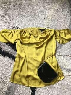 Forever21 Off-shoulder silk top (pre-loved)