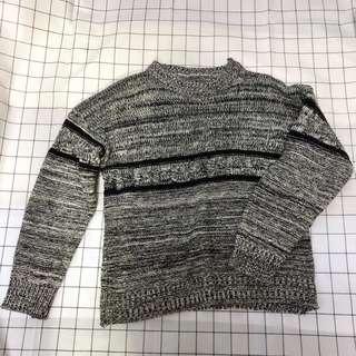 🚚 《二手》黑色編織毛衣M