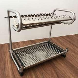 🚚 Stainless Steel Dish drying rack for 14 placement